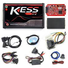 KESS V5.017 V2.53 ЕС красный блока управления двигателем Титан KTAG V2.25 V7.020 4 светодиодный онлайн мастер версия рамка фонового режима отладки fgtech OBD гр...