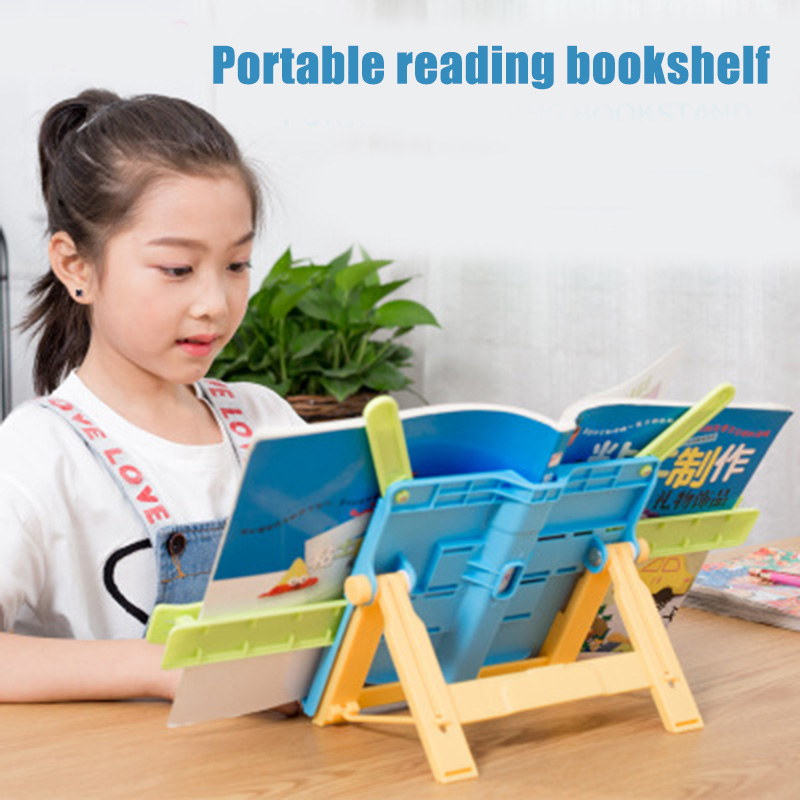 Adjustable Anti-myopia Bookends Portable Reading Rack Shelf For Children Stationery Student  LHB99