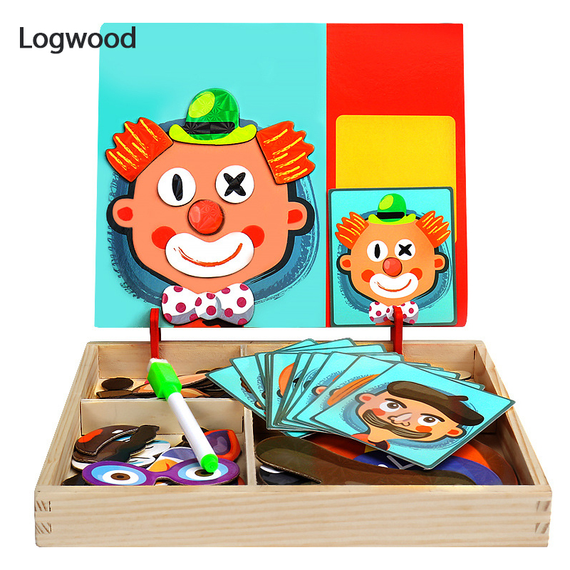 Baby Toy  Magnetic Puzzle 3D Jigsaw Puzzle Traffic Letter And Number Wooden Puzzle  Early Educational Toys For Children Gift