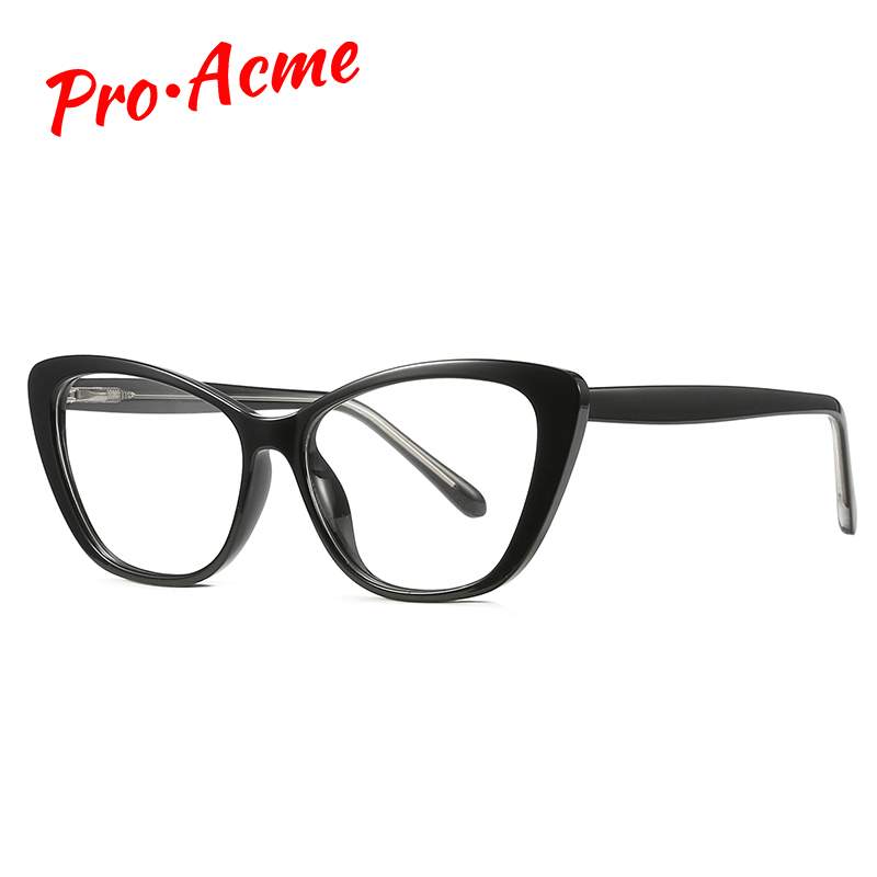 Pro Acme TR90 Glasses Frame Cat Eye Womens Eyeglass Frames Spring Leg Clear Glasses Optical Glasses Frame Lunette De Vue PC1457