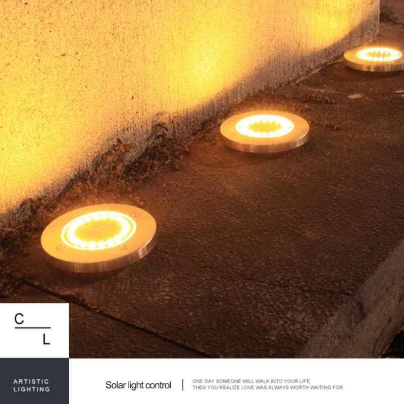 ソーラー地面ライト防水ガーデン経路デッキライトを 8/12/16/20 家庭用の led ランプヤード私道芝生道路