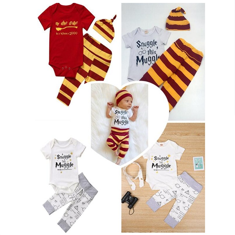 A Set Harri Potter Accessories Doll Costume Cotton Outfit Harri Glasses Pattern Clothes Hat Cosplay Baby Kids Birthday Gift