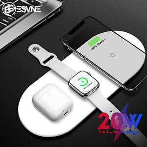 ESVNE Wireless-Charger Charging-Dock-Station Airpods Apple Watch Qi iPhone 11 Fast 20W