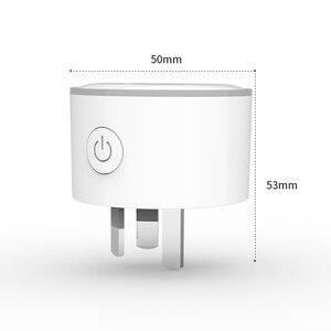 Image 3 - Lonsonho Tuya Smart Plug WiFi Socket Night Light Type I Australia New Zealand Argentina Plug Works With Alexa Google Home Mini