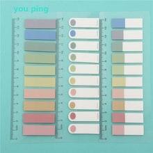 Novas cores 100 /200 folhas auto adesivo almofada de memorando notas pegajosas marcador de ponto de marcador memorando adesivo papel material escolar escritório