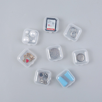 Mini Storage Box Earplug Box Jewelry Accessories Box Plastic Independent Small Lattice Small Parts Box Pillbox Home Stuff image