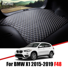 De couro Do Carro Mat Tronco Para BMW X1 F48 2015-2019 Tronco Mat Bota X1 Forro Pad BMW sDrive20i Tapete Cauda Cargo Liner 2016 2017 2018
