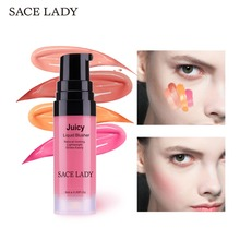 SACE LADY 4 Colors Liquid Makeup Blusher Professional Peachy Cheek Blush Cream Rubor Maquillaje Rosy Nude Contour Stick