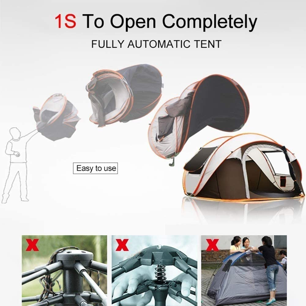 5-8 People Fully Automatic Pop Up Camping Tent 2