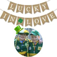 Saint St Patricks Day Banner Decorations Be Lucky love Green Clover Shamrock  Irish Fun Party Celebration