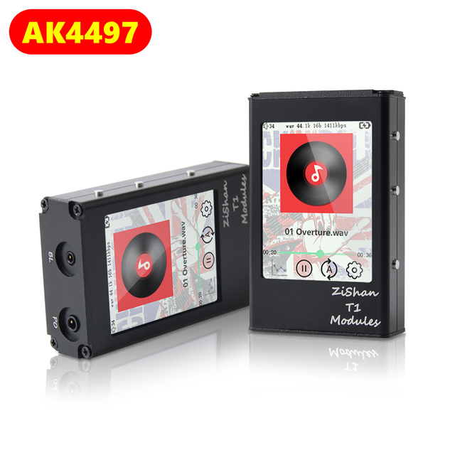 Zishan T1 4497 AK4497EQ Dac Dap Touch Screen Professionele Lossless Muziekspeler MP3 Hifi Draagbare Dsd Met 2.5Mm Evenwichtige AK4497