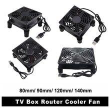 Gdstime – ventilateur de routeur USB 5V, refroidisseur de boîte TV 80mm 92mm 120mm 140mm avec filtre à vis, ventilateur de bureau silencieux, 8cm 9cm 12cm 14cm