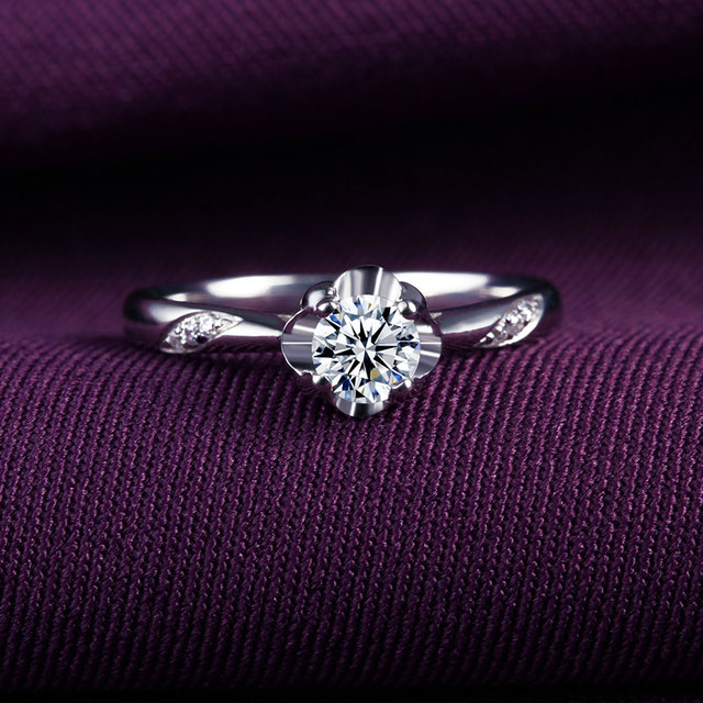 18k Gold And White Gold Rose Gold Gold Diamond Ring Platinum Wedding Diamond Ring Marry Couple Ring Genuine