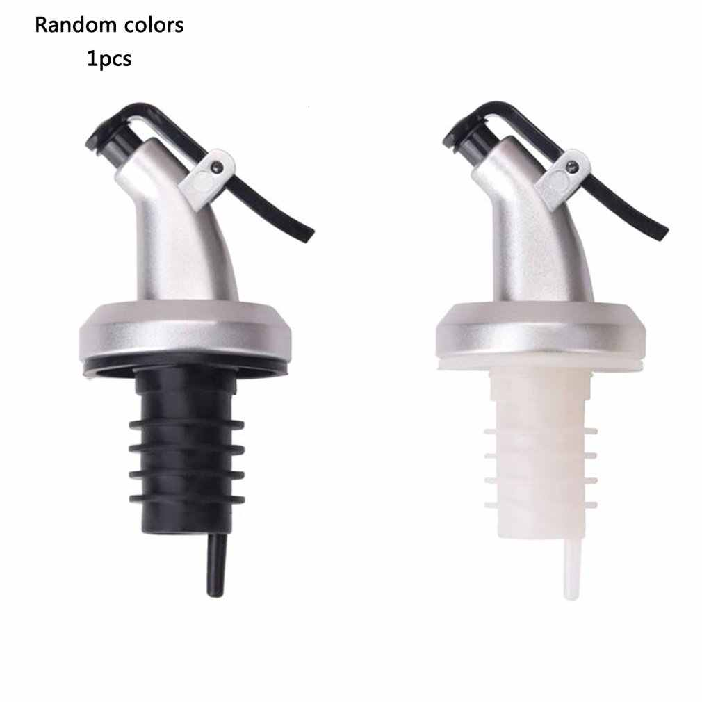 Minyak Botol Sprayer Minuman Keras Dispenser Wine Pourers Flip Top Bir Botol Cap Stopper Leak Proof Pourer Dapur Warna Acak
