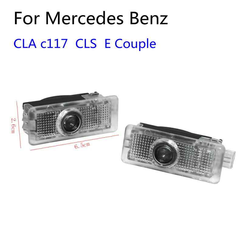 2pcs Led Car Door Light Laser Projector Logo Welcome Light For Mercedes Benz CLA AMG C117 CLS W218 X218 W117 A207 C207 E Couple