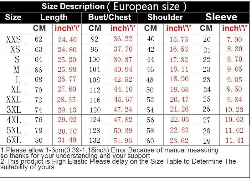 3DT恤尺码表