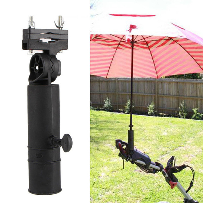 Universal Adjustable Black Golf Cart Umbrella Holder Stand For Buggy Cart Baby Stroller Pram Wheelchair Trolley Accessories