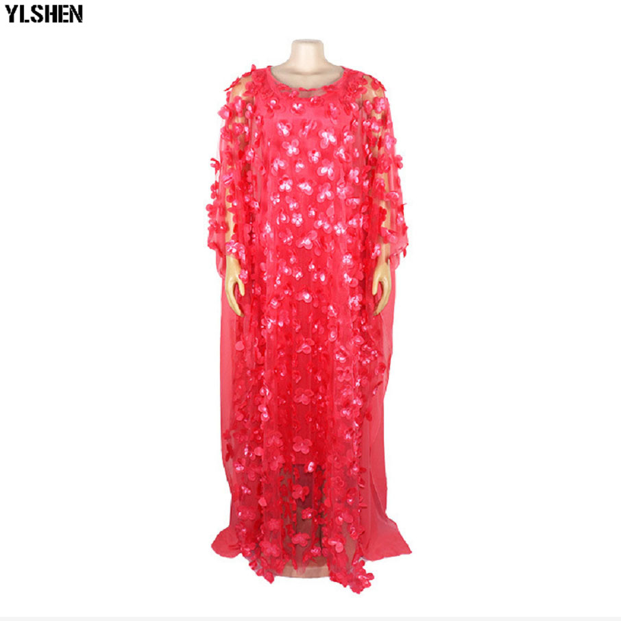 2 Piece Set African Dresses For Women 2019 New African Clothes Lace Fashion Boubou Robe Africain Dashiki Party Long Muslim Dress