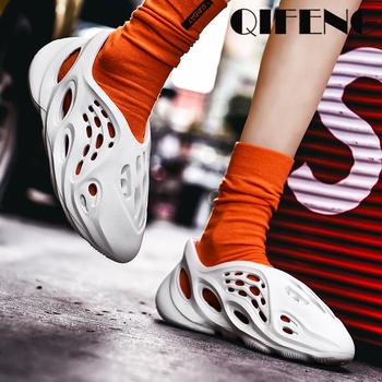 Nowość letnie męskie obuwie codzienne damskie lekkie modne letnie buty damskie trampki nowe oddychające modne obuwie męskie duże rozmiary tanie i dobre opinie QIFENG Syntetyczny CN (pochodzenie) Slip-on Pasuje prawda na wymiar weź swój normalny rozmiar Podstawowe Lato 2020-7