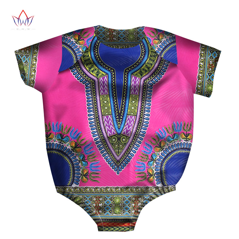 BRW 2019 New Fashion Africa Conjoined Baby Clothing Dashiki Cute Baby Jersey Bazin Flower African Traditional Clothing WYT123
