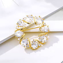 Korean Style Brooches For Women Water Drop Zircon Crystal Rhinestone Brooch Brooch Frock Coat For Men Big Pearl Valentine's Day chic faux pearl rhinestone number shape brooch for women