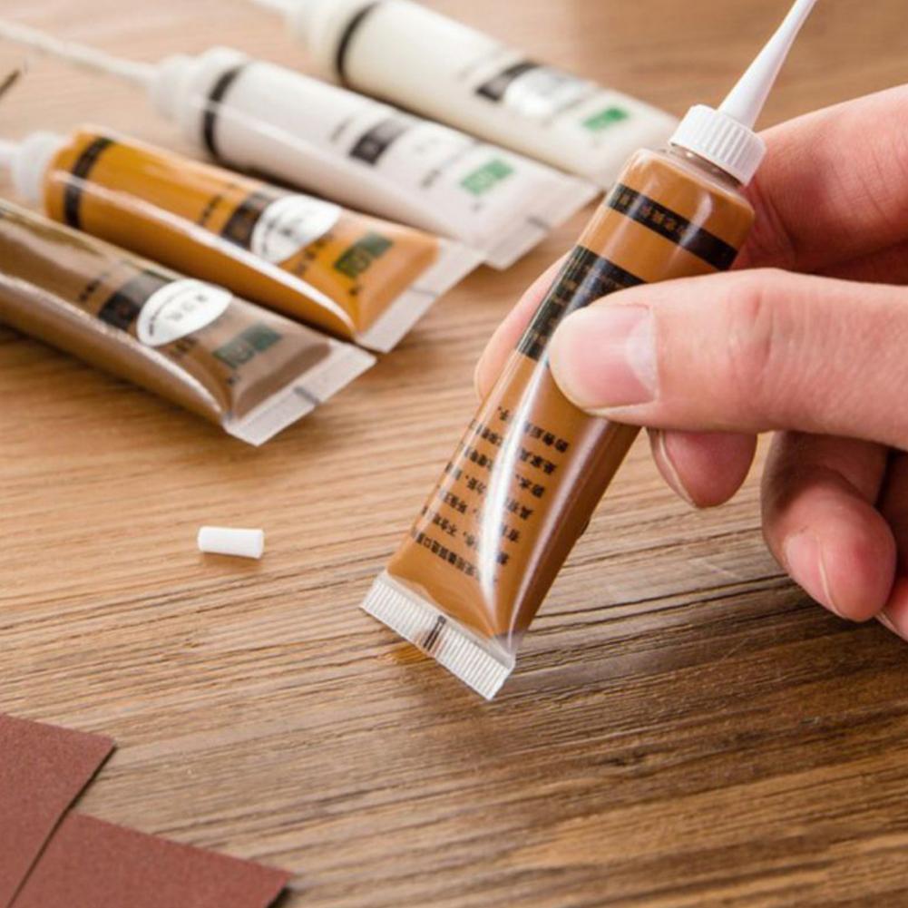 Wood Furniture Repair Patch Cream Paint Up Kit Marker Wax Scratch