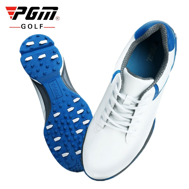 Sapatos de Golfe para Homens de Couro à Prova Tênis de Golfe Profissional Dwaterproof Água Fixo Unha Formadores Respirável Anti-deslizamento Aa10092 Pgm