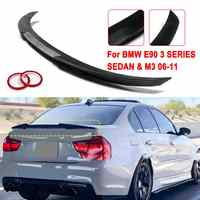 Matte /Glossy Black/carbon fiber Style ABS trunk spoiler Wing M4-STYLE FOR 2006-2011 For BMW E90 3 SERIES SEDAN & M3 2008-2012