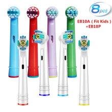 Cabezales de repuesto para cepillo de dientes Braun Oral B, cabezales de repuesto para cepillo de dientes eléctrico, cuidado de las encías sensibles, Potencia Avanzada, 8 Uds.