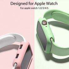 Ремешок силиконовый для apple watch series 5 4 40 мм 44 сменный