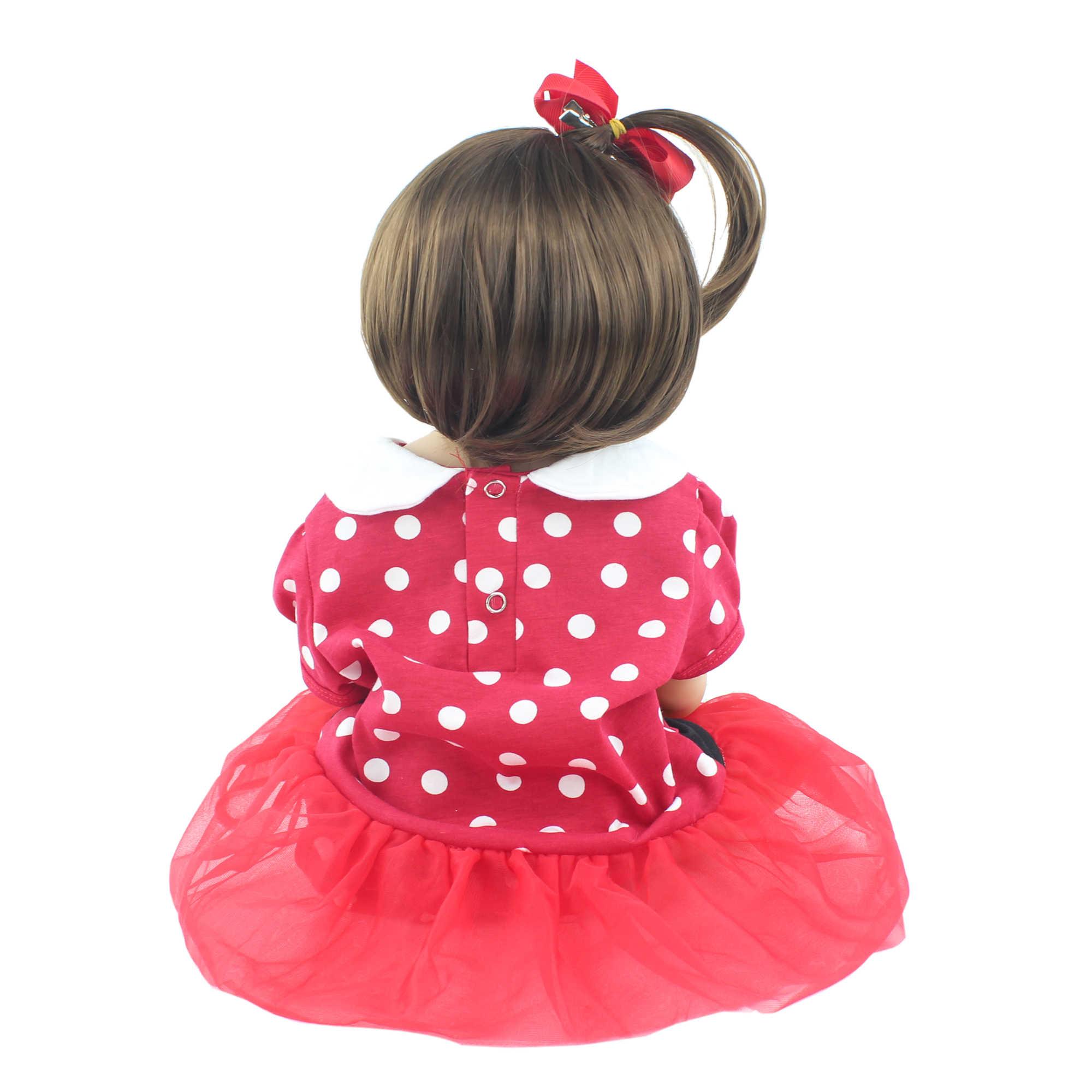 55cm מלא סיליקון Reborn תינוק בובת צעצוע ויניל בחיים תינוקות להתלבש נסיכת פעוט ילדה Bonecas יום הולדת מתנה לשחק בית צעצוע