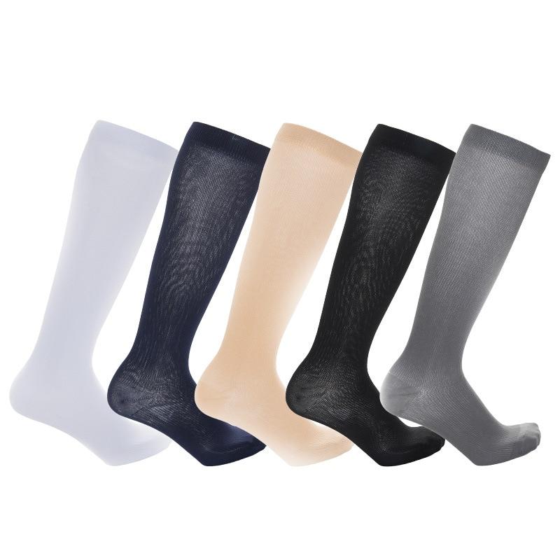 Новые чулки до колена для варикозного расширения женщин и мужчин анти усталость ноги боли облегчение тонкие ноги чулки Спортивная