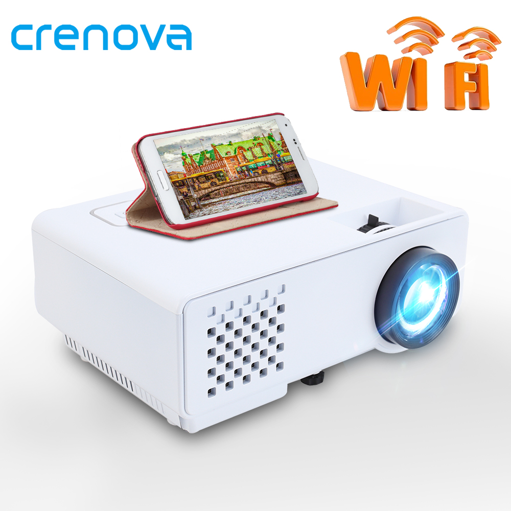 CRENOVA Mini LEDProjector 2800 Lumens For Full HD 1080p, Wireless Sync Display For Phone, Portable Home Theater Video beamer(China)