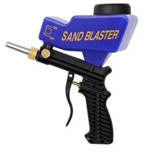 Image 1 - MIini Airbrush נגד חלודה אוויר מברשת הגנת אוויר ספוט חול Blaster הכבידה סוג אקדח ספריי צבע אקדח Sandblaster ריסוס כלים