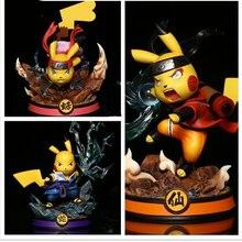 Figuras de Pokémon Anime de Pikachu, Uzumaki, Naruto, Uchiha Sasuke, Haruno, Sakura, muñeco de bolsillo para juguetes de PVC