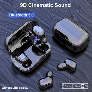 Image 2 - Bluetooth 5,0 Wirless Kopfhörer HIFI Stereo Bass Kopfhörer MicHeadset Wasserdichte Led anzeige Ohrhörer für Samsung Xiaomi Hinweis 10