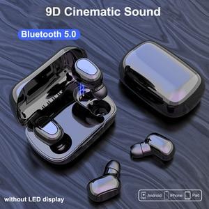 Image 2 - Bluetooth 5.0 Wirless Oortelefoon HIFI Stereo Bass Hoofdtelefoon MicHeadset Waterdichte LED Display Oordopjes voor Samsung Xiaomi Note 10