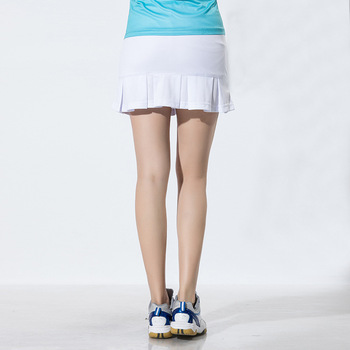 2019 eksport sport krótka spódniczka damska spódnica sportowa jednokolorowa spódnica przeciwpoślizgowa trening tenis spódnica tanie i dobre opinie Solid Color China Tianyjl3303 Divided Skirt