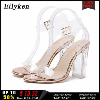 Eilyken 2020 New PVC Women Sandals Sexy Clear Transparent Ankle Strap High Heels Party Sandals Women Shoes Size 35-42 - Category 🛒 Shoes