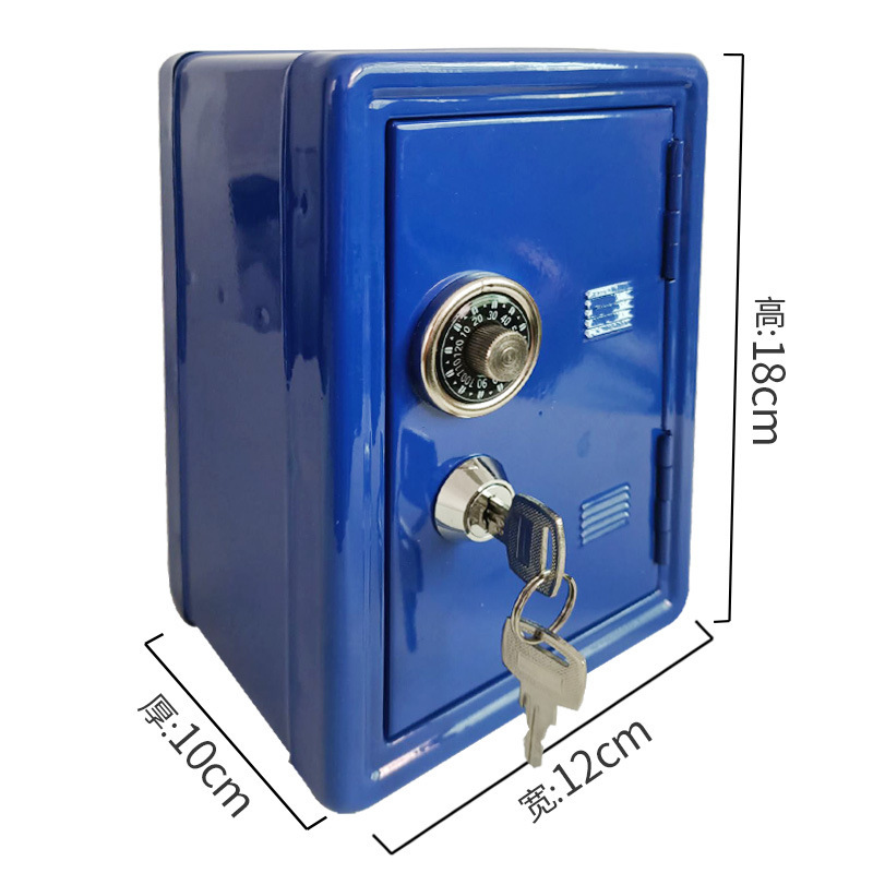 Golden Security Mini Metal Creative Piggy Bank Key Safe Decoration Mechanical Password Safes Child Change Property Deposit Box