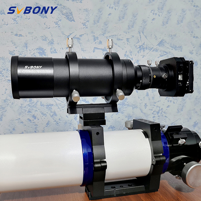 """SVBONY 60mm 60240 Compact Deluxe Guide Scope Finderscope w/1.25"""" Double Helical Focuse for Monocular  Astronomy Telescope F9177B"""