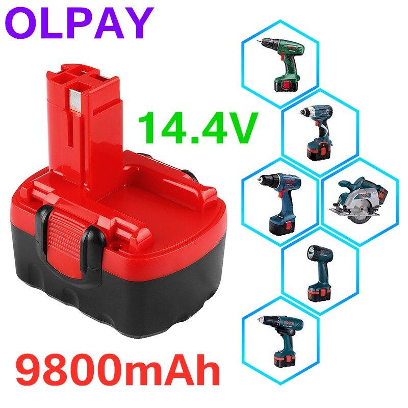 Bosch 14.4V 9800mAh Ni-CD Rechargeable Power Tool Battery 9800mAh For Bosch BAT038 15614 1661 1661K 22614 23614 32614 33614
