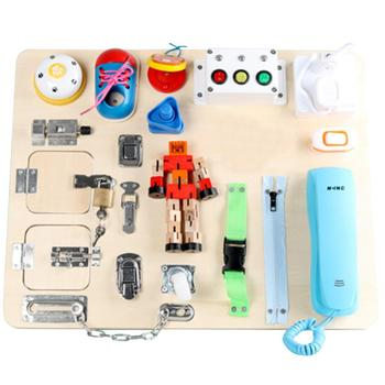 toddler-busy-board-multifunctional-educational-unlock-dress-up-zipper-button-baby-activity-skills-practice-board-toys