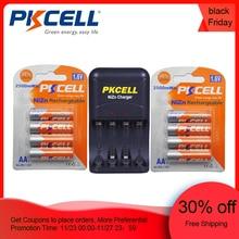 8 sztuk/2 paczki PKCELL 1.6 v NIZN AA akumulatory ni zn 1.6 v 2500mWh baterie AA + 1 sztuk AA/AAA NiZn ładowarka