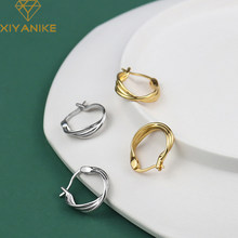 XIYANIKE – bague géométrique en argent Sterling 925 pour femme, anneau à trois couches, ligne torsadée, créatif, mode Simple, léger, luxe, cadeau fait à la main