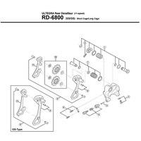 Shimano original derailleur traseiro ferramenta de reparo interior placa guia exterior defletor para ut 6800 6870