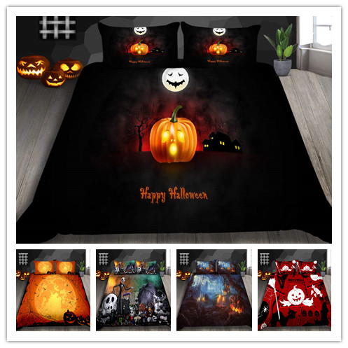 Halloween Nightmare Bedding Sets Optimizer 100% Polyester Quilt Cover Set King Queen Double Full Twin Single Size Bed Linen Set