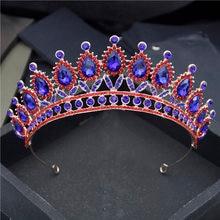 Винтажный стиль со стразами тиары и короны для женщин свадебные
