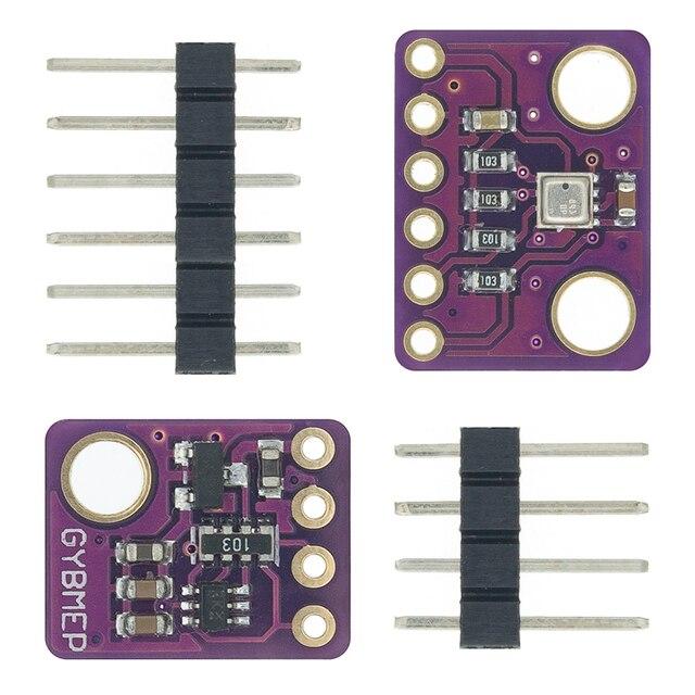10 قطعة BME280 3.3 فولت 5 فولت الرقمية الاستشعار درجة الحرارة الرطوبة الجوي وحدة استشعار الضغط I2C SPI 1.8 5 فولت BME280 وحدة الاستشعار