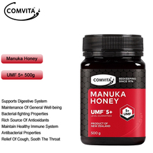 Original newzealand comvita manuka mel umf5 + 500g para sistema respiratório de saúde imune digestivo tosse sooth dor de garganta